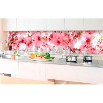 Samolepiace tapety za kuchynskú linku jabloňové kvety rozmer 350 cm x 60 cm