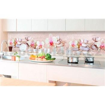 Samolepiace tapety za kuchynskú linku ZEN kvetiny rozmer 350 cm x 60 cm