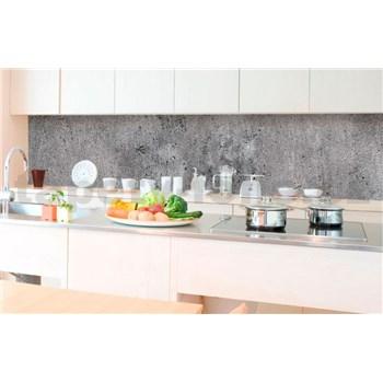 Samolepiace tapety za kuchynskú linku betón sivý rozmer 350 cm x 60 cm