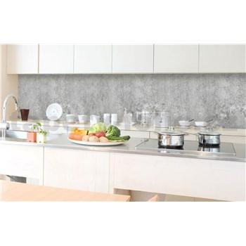 Samolepiace tapety za kuchynskú linku betón Concrete II rozmer 350 cm x 60 cm