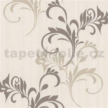 Moderné tapety na stenu Lacantara2 - moderné vetvičky - hnedé - ZĽAVA