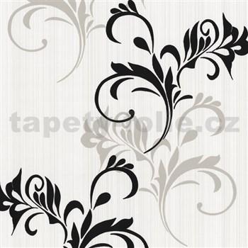 Moderné tapety na stenu Lacantara2 - moderné vetvičky - čierno-šedé