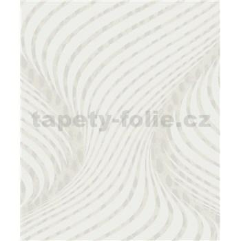 Tapety na stenu La Veneziana 3 skrutkovica bielo-hnedá