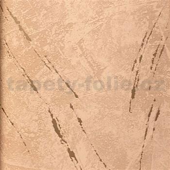 Tapety na stenu La Veneziana 3 omietkovina tehlová so zlatým detailom