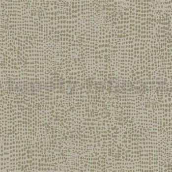 Vliesové tapety na stenu La Veneziana IV bodky zlaté na sivom podklade