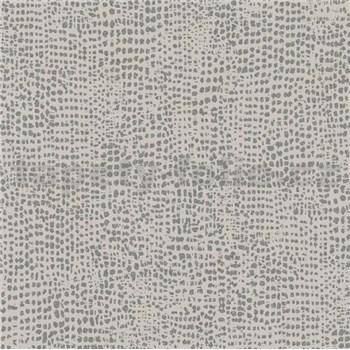 Vliesové tapety na stenu La Veneziana IV bodky strieborné na hnedom podklade