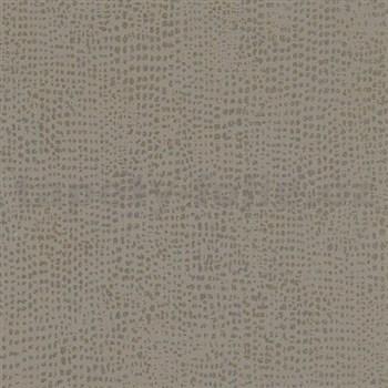 Vliesové tapety na stenu La Veneziana IV bodky zlaté na hnedom podklade