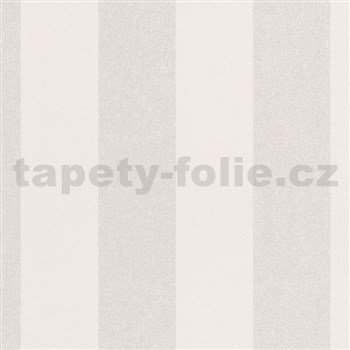 Vliesové tapety na stenu La Veneziana IV pruhy strieborno-biele