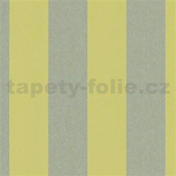 Vliesové tapety na stenu La Veneziana IV pruhy limetkovo-zlaté