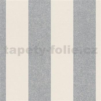 Vliesové tapety na stenu La Veneziana IV pruhy strieborno-béžové