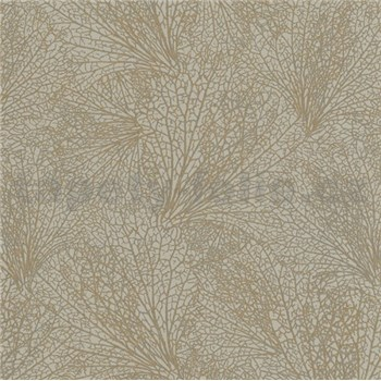 Vliesové tapety na stenu La Veneziana IV pavučina zlatá na sivom podklade