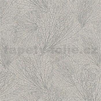 Vliesové tapety na stenu La Veneziana IV pavučina strieborná na hnedom podklade