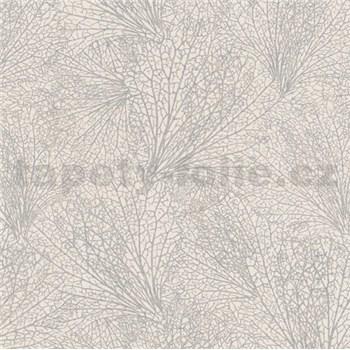 Vliesové tapety na stenu La Veneziana IV pavučina strieborná na béžovom podklade