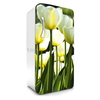 Samolepiace tapety na chladničku žlté tulipány rozmer 120 cm x 65 cm