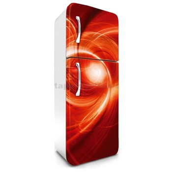 Samolepiace tapety na chladničku abstrakt oranžový rozmer 180 cm x 65 cm