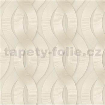 Luxusné vliesové tapety na stenu Colani Legend preplietané vlny svetlo hnedé