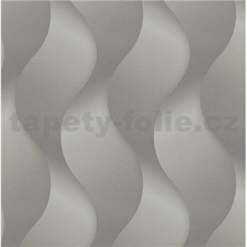 Luxusné vliesové tapety na stenu Colani Legend vlny sivé