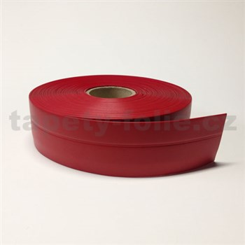 Podlahová lemovka z PVC samolepiaca červená 5,5 cm x 25 m