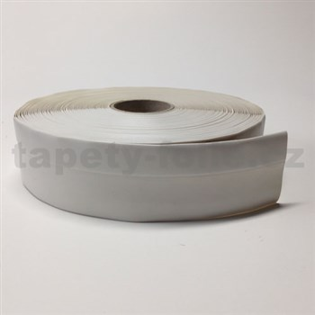 Podlahová lemovka z PVC samolepiaca biela 5,5 cm x 25 m