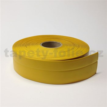 Podlahová lemovka z PVC žlutá 5,5 cm x 20 m