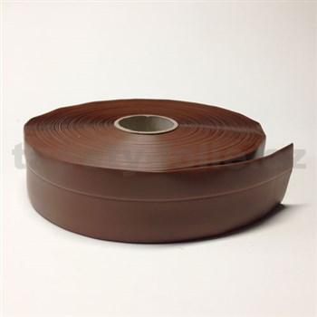 Podlahová lemovka z PVC samolepiaca čokoládovo hnedá 5,5 cm x 25 m
