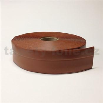 Podlahová lemovka z PVC samolepiaca tmavo hnedá 5,5 cm x 25 m