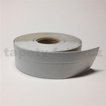 Podlahová lemovka z PVC bílá s šedým žíháním 5,5 cm x 40 m