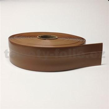 Podlahová lemovka z PVC hnedá 5,5 cm x 40 m