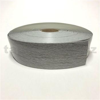 Podlahová lemovka z PVC drevo dub sivý 5,3 cm x 40 m