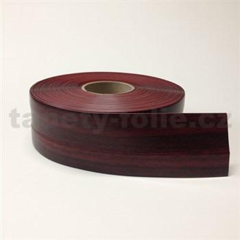 Podlahová lemovka z PVC dřevo červeno-hnědé 5,5 cm x 40 m