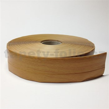 Podlahová lemovka z PVC drevo žlto-hnedé 5,5 cm x 40 m