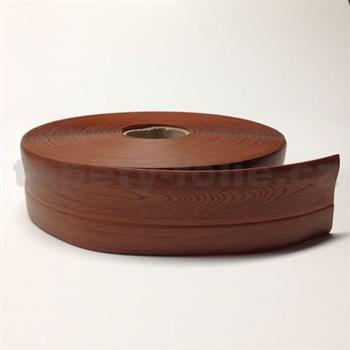 Podlahová lemovka z PVC samolepiaca drevo hnedé 5,5 cm x 25 m