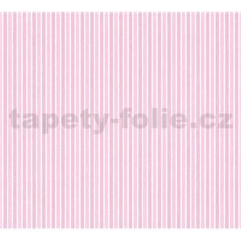 Detské vliesové tapety na stenu Little Stars pruhy ružové