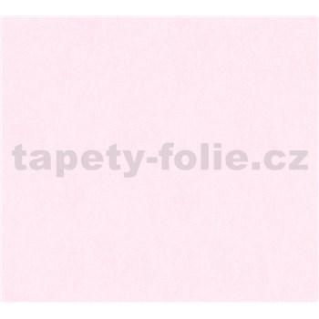 Detské vliesové tapety na stenu Little Stars jednofarebné ružové