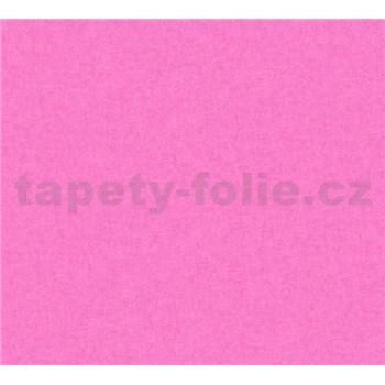 Detské vliesové tapety na stenu Little Stars jednofarebné tmavo ružové