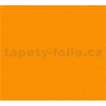 Detské vliesové tapety na stenu Little Stars jednofarebné oranžové