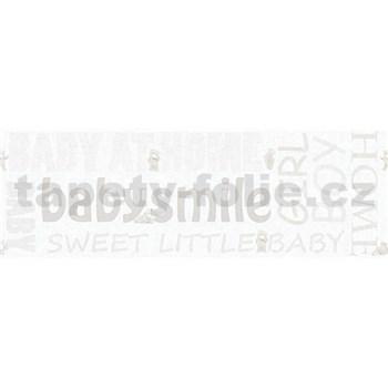 Detské vliesové bordúry Little Stars medvedíky so svetlo hnedými nápismi