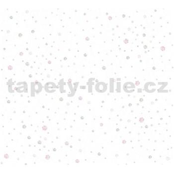 Detské vliesové tapety na stenu Little Stars balóniky ružovo-modré