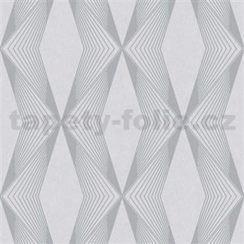 Vliesové tapety na stenu LIVIO geometrický vzor sivý na sivom podklade