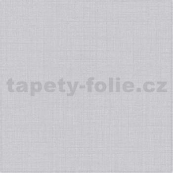 Vliesové tapety na stenu IMPOL Luna textilná štruktúra sivá so strieborným ligotom