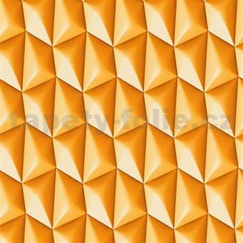 Vliesové tapety na stenu Harmony in Motion by Mac Stopa 3D oranžový