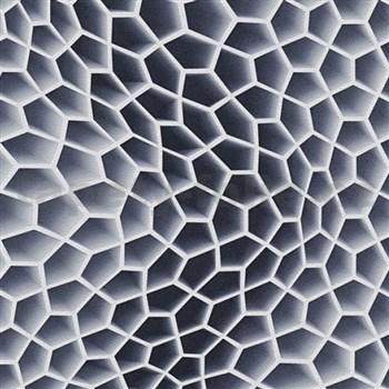 Vliesové tapety na stenu Harmony in Motion by Mac Stopa 3D plástu sivo-čierna