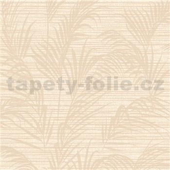 Luxusné vliesové tapety na stenu Madison florálny vzor béžový s metalickými odleskami