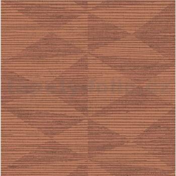 Luxusné vliesové  tapety na stenu Madison kubistický vzor terakotovej farby s medenými odleskami