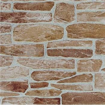 Vliesové tapety Suprofil - kamenná stena - tehlový odtieň