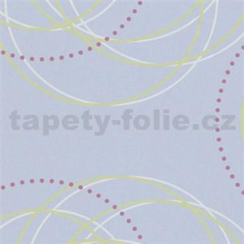 Tapety na stenu Zuhause Wohnen - kruhy zeleno-biele