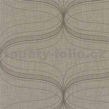 Vliesové tapety na stenu La Veneziana - strieborný ornament s metalickým efektom-ZĹAVA