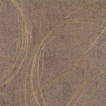Vliesové tapety na stenu Colani Visions abstrakt hnedý s medenými odleskmi