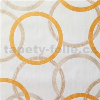 Vliesové tapety na stenu Summer Special - kruhy oranžové