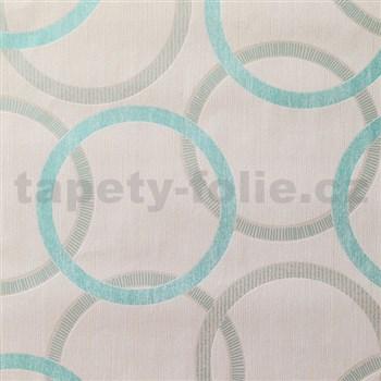 Vliesové tapety na stenu Summer Special - kruhy modré - POSLEDNÉ KUSY